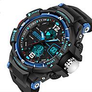 SANDA Męskie Sportowy Zegarek cyfrowy Kwarcowy Cyfrowe Kwarc japoński LCD Kalendarz Wodoszczelny Dwie strefy czasowe alarm Stoper Świecący
