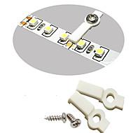 100 paket led şerit ışık için montaj braketleri, sabitleme klipsi, tek tarafı sabitleme, 100 vidalar dahil-10mm