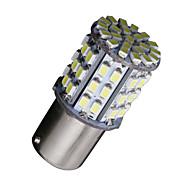 2x BA15S 1156 branco 64 smd rv carro reversa de backup freio cauda brilhante Lâmpadas LED 12v