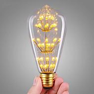 3W LED Λάμπες Πυράκτωσης ST64 47 COB 360 lm Θερμό Λευκό Διακοσμητικό AC 220-240 V 1 τμχ E27