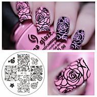 roos bloem nail art stempelen beeld sjabloon plaat geboren vrij bp-73 nagel stempelen platen manicure stencilreeks