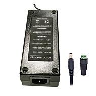 xinyuanyang® 120w 12v 10a 3round-bens AC-strømforsyning 5,5 x 2,1 mm DC strømforsyning til LED lys stribe - sort (100 ~ 240V)