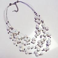 Dames Verklaring Kettingen Parel Parel Cirkel Meerlaags Kostuum juwelen Opvallende sieraden Modieus Europees Sieraden Voor Dagelijks
