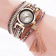 Damskie Modny Zegarek na nadgarstek Zegarek na bransoletce Kwarcowy Kolorowy sztuczna Diament Kryształ górski PU PasmoPostarzane
