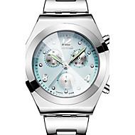 Dames Sporthorloge Dress horloge Modieus horloge Polshorloge Vrijetijdshorloge Waterbestendig Drie tijdzones Kleurrijk KwartsRoestvrij