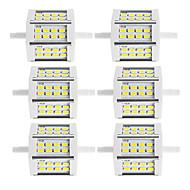10W R7S Reflektory LED Rurka 24 SMD 5730 880 lm Ciepła biel / Zimna biel Dekoracyjna V 6 sztuk