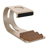 Paifan horloge stand voor appelwatch serie 1 2 ipad iphone 7 6 plus 5 5s 5c metaal all-in-1 38mm / 42mm geen data lijn
