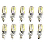 10 stuks 3w e11 / e12 / e14 64smd 3014 300lm warm wit koel wit dimbaar ac110v / 220 v