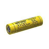 nitecore imr18650 3100mah 35a li-ion genopladeligt batteri