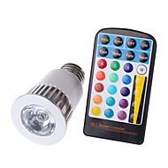 5W E26/E27 LED-spotlys MR16 1 COB 450 lm RGB Justérbar lysstyrke Fjernstyret Dekorativ Vandtæt Vekselstrøm 85-265 V 1 stk.