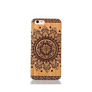Voor Schokbestendig hoesje Achterkantje hoesje Mandala Hard Bamboe voor Apple iPhone 6s/6