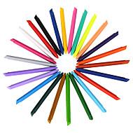 24 kleuren plastic kleurpotloden 1 set van 24 stuks