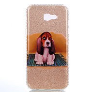 For IMD Mønster Etui Bagcover Etui Hund Glitterskin Hårdt PC for Samsung A3 (2017) A5 (2017) A7 (2017)