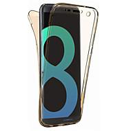 Για samsung galaxy s8 plus s8 κάλυψη περίπτωσης 360 βαθμού all-inclusive split tpu υλικό μαλακή θήκη τηλεφώνου περίπτωση s7 άκρη s7 s6