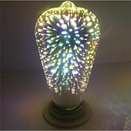 1pcs e27 st64 4w 400-450lm fogos de artifício 3d edison branco quente led globe bulbo ac85-265v