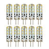 Hkv® 10 kpl g4 2w 24 smd 3014 100-200 lm lämmin valkoinen viileä valkoinen led-bi-pin valo dc 12 v