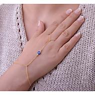 Naisten Ranneketjut Rannekoru-sormukset Korut Bohemia Style Käsintehty Metalliseos Circle Shape Kulta Hopea Korut VartenErikoistilaisuus