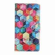 Til iPhone 8 iPhone 8 Plus Etuier Covere Kortholder Lommebok med stativ Flipp Mønster Heldekkende Etui Geometrisk mønster Hard Kunstlær