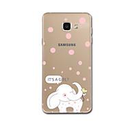 Varten kotelot kuoret Ultraohut Kuvio Takakuori Etui Elefantti Pehmeä TPU varten Samsung A5 (2017) A7 (2017) A7(2016) A5(2016) A8 A5 A3