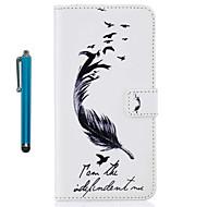 Til iPhone 8 iPhone 8 Plus Etuier Covere Kortholder Lommebok med stativ Flipp Mønster Heldekkende Etui Fjær Hard Kunstlær til Apple