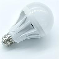 1 stk 7w e27 bevægelsessensorlampe 500-600lm 30smd 2835 kølig hvid smart lyd lysstyring led pærer ac220-240v