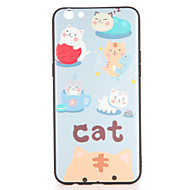 Voor oppo r9s r9s plus case cover patroon back cover case kat soft tpu r9 r9 plus