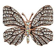 Naisten Rintaneulat Strassi Eläin Metalliseos Animal Shape Butterfly Korut Käyttötarkoitus Party Kausaliteetti Iltajuhlat Uusivuosi