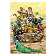 παζλ Παζλ Δομικά στοιχεία DIY παιχνίδια Άλλα Ελέφαντας Γάτα Ταύρος