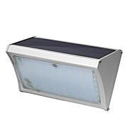 56 οδήγησε ηλιακή επαγωγή κράμα αλουμινίου τοίχο λάμπα 8w με τηλεχειριστήριο αυλή μπαλκόνι φώτα