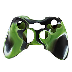 suojaava kaksivärinen silikonisuoja Xbox 360-ohjain (vihreä ja musta)