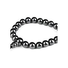 Erkek Strand Bilezikler Değerli Taş Doğal Siyah Eşsiz Tasarım Stres Bilekliği Moda kostüm takısı Değerli Taş Mücevher Mücevher Uyumluluk