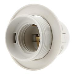 E27 Base Pære Gevind Fatning Lampe Holder (Hvid)