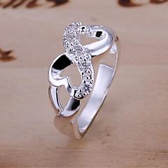 여성용 문자 반지 유니크 디자인 개인 의상 보석 고급 보석 은 도금 합금 무한대 보석류 보석류 제품 결혼식 파티 일상