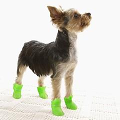 katten / honden Schoenen & Laarzen Waterdicht Winter / Lente/Herfst Effen Geel / Blauw / Paars / Zwart / Roze Silicone
