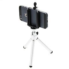 I-12-2-SL mini asztali állvány, egyszintes, két részből áll (Sliver) és mobil telefon Tripod Mount tartó