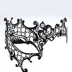 Μάσκα Γιορτές/Διακοπές Κοστούμια Halloween Μαύρο Μάσκα Halloween Απόκριες Γιούνισεξ Μεταλλικό Τεχνητοί Πολύτιμοι Λίθοι