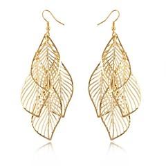 Dames Druppel oorbellen Hol Elegant Lange Lengte Europees Opvallende sieraden Kostuum juwelen Legering Bladvorm Sieraden Voor Bruiloft