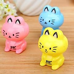 macska alakú kézi ceruzahegyező (véletlenszerű szín)