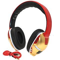 hi-fi υποδοχή κάρτας άνθρωπος σιδήρου 3,5 χιλιοστά tf αναδιπλούμενο bass μουσική ασύρματα στερεοφωνικά ακουστικά Bluetooth με μικρόφωνο tf fm aux