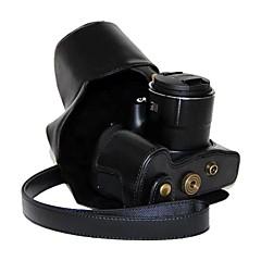 캐논 파워 샷 SX60 HS에 대한 충전 포트와 복고풍 PU 가죽 오일 피부 카메라 보호 케이스를 dengpin®