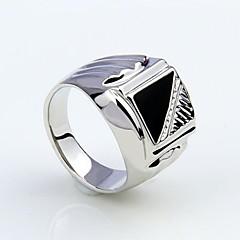 남성용 문자 반지 의상 보석 모조 다이아몬드 합금 보석류 제품 파티 일상 캐쥬얼 크리스마스 선물