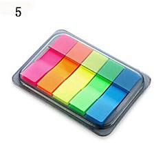 자기 스틱은 휴대용 된 notepaper 상자 (임의의 색상을) 노트
