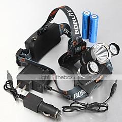 Pandelamper Cykellys LED 4000,5000,5300 Lumen 4.0 Tilstand Cree XM-L T6 Cree XM-L U2 Genopladelig Vandtæt for Camping/Vandring/Grotte