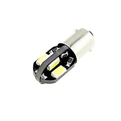 H6W bax9s 1w 8x5730 smd led 80lm 6000k koel wit licht lamp voor auto (DC 12V, 2 stuks)
