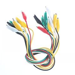 Çift kemer çizgisi timsah klip test hattı bakım bağlantı hattı uzunluğu 50cm (10 adet)