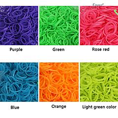 baoguang®600pcs fluorescencyjny kolor tęczy krosno krosno gumkę mody (1package s klip, różne kolory)