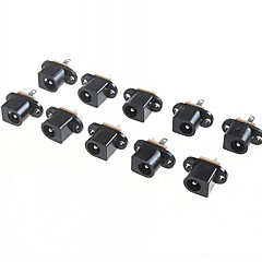 dc017 5.5mm - 2.1mm belső átmérőjű dc jack csatlakozó (10 db a csomagban)