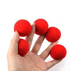 sihirli sahne - kırmızı sünger topları (5 adet)