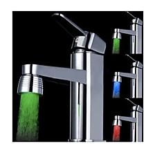 색상을 변경 배터리없는 물 전원 부엌 다채로운 LED 꼭지 빛