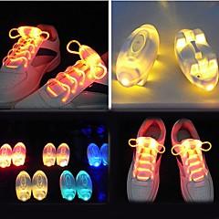 W - 블루/레드/그린/옐로우/멀티컬러 - 베터리 LED 신발 끈 V